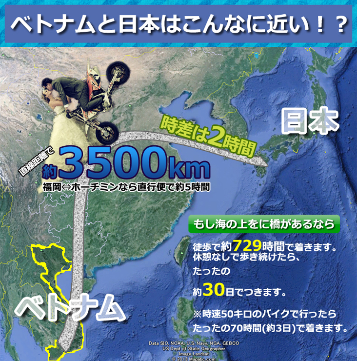 ベトナムと日本の距離