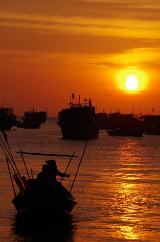 ブンタウの夕日